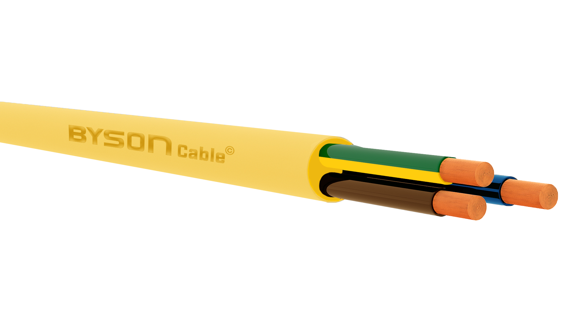 PUR-JB YELLOW Flexible Control Cable